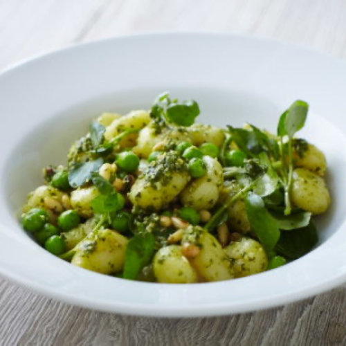 Pesto Gnocchi with Peas